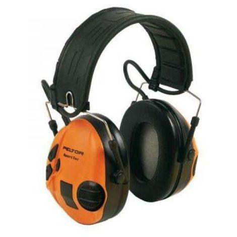 Sportac Casque Peltor Anti Bruit Actif Spécial Chasse, SNR 26 dB, Orange - Orange
