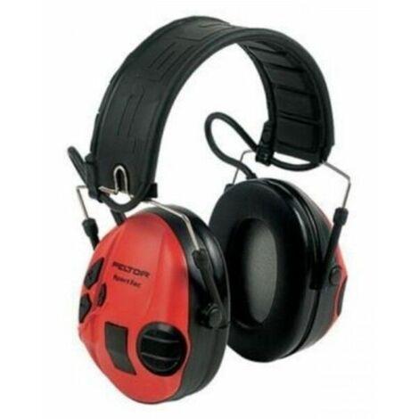 Sportac Casque Peltor Anti Bruit Actif Spécial Chasse, SNR 26dB, Rouge - Rouge