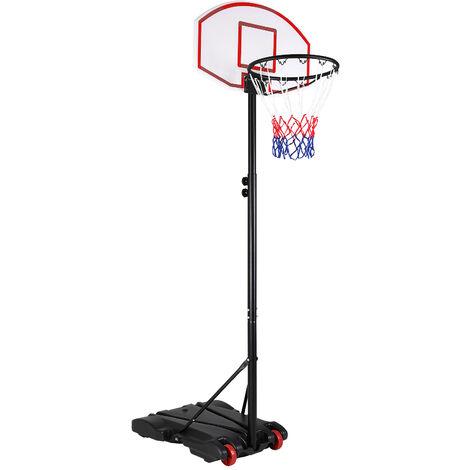 Sportana Portable Basketball Hoop & Stand System on Wheels Adjustable Height 179-209cm Backboard Net