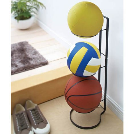 Sports Ball Storage Stand by Yamazaki