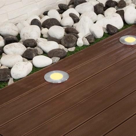 Spot 230V encastrable extérieur 28 LED