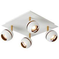 Spot 4 lampes design Lucide Blanc 01 Métal 77975/20/31