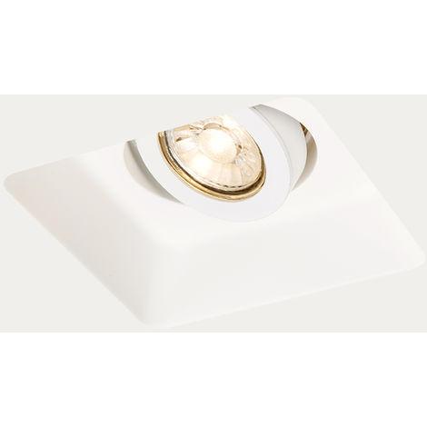 Spot à encastrer carré Gipsy Zero Q I GU10 blanc Qazqa Design, Moderne Luminaire interieur Carré Plâtre