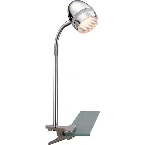 Spot à pince à LED, bras de lampe flexible, hauteur 40 cm, MANJOLA