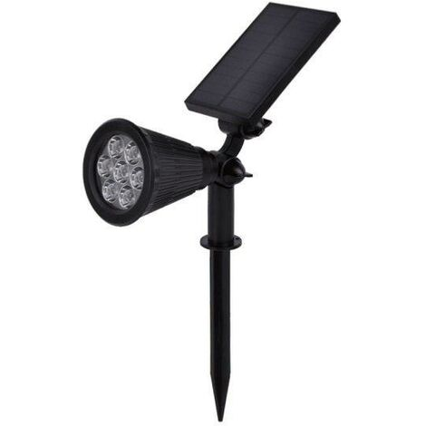 Spot à piquer LED Solaire pour Jardin 1.5W 6V DC Bleu - Noir - SILAMP