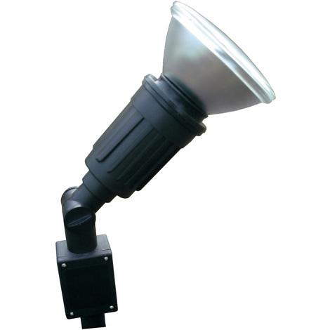 Spot à piquer simple E27 PAR38 - 80 watts - câble HO5RN-F 2x 1mm² - Longueur 1m