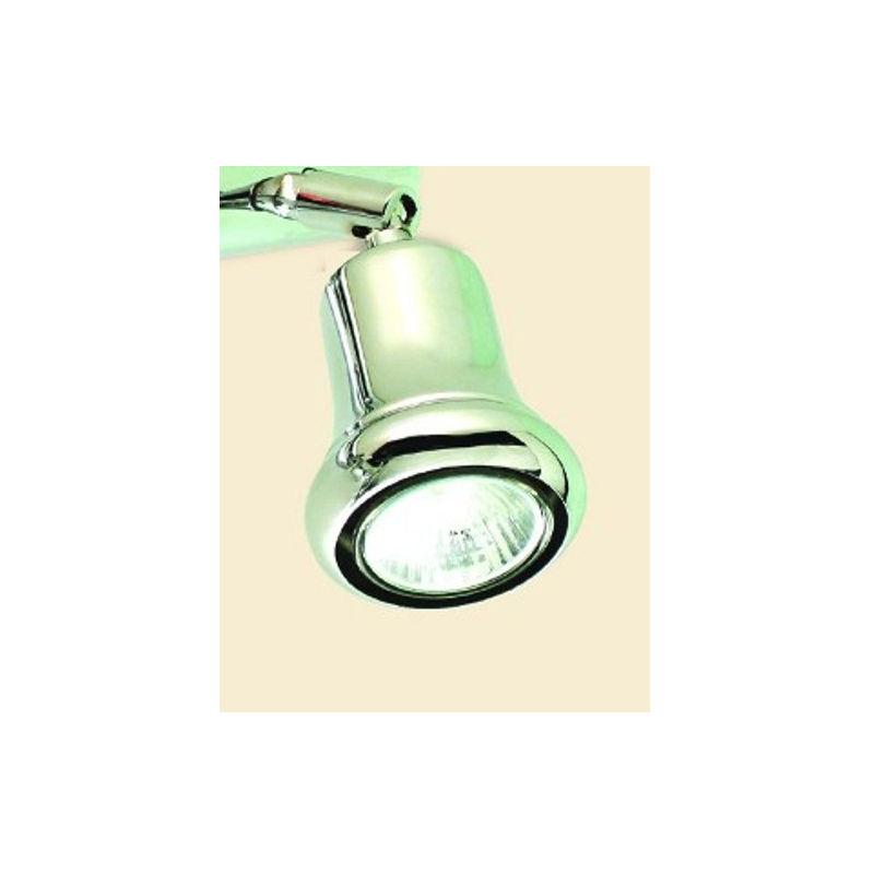 Spot tilly 3 luci faretti orientabili lampada parete classica moderna interno gu10 ip20, finitura metallo cromo lucido - Lampadari Bartalini