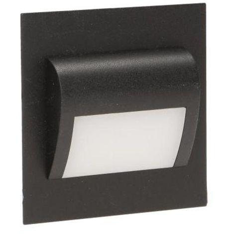 Spot balise LED Draco pour escalier/couloir noir