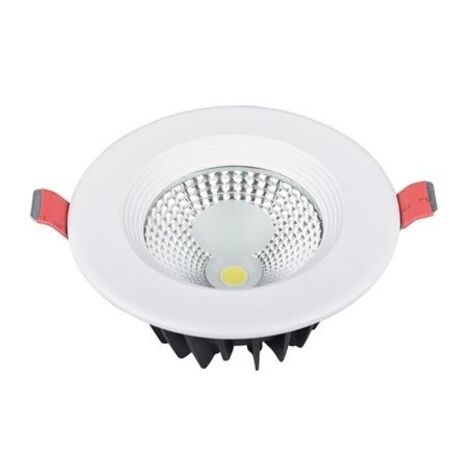 Spot COB LED downlight rond blanc 5W (Eq. 40W) Diam 90mm