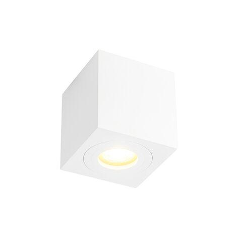 Spot de Plafond de salle de bain Moderne carré blanc IP44 - Capa Qazqa Moderne IP44 Carré