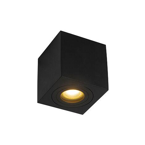 Spot de Plafond de salle de bain Moderne carré noir IP44 - Capa Qazqa Moderne IP44 Carré