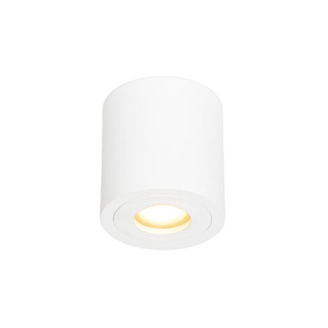 Spot de Plafond de salle de bain Moderne rond blanc IP44 - Capa Qazqa Moderne IP44