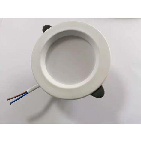 Spot de salle de bain 5 LED, super plat IP44 25mm, Ø85mm, blanc, plafonnier encastré, panneau LED 5W, 460Lm, blanc neutre 4000K