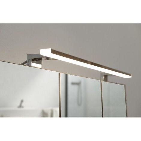 Spot de salle de bains avec éclairage LED - Chrome - 5,2 cm x 80 cm ...