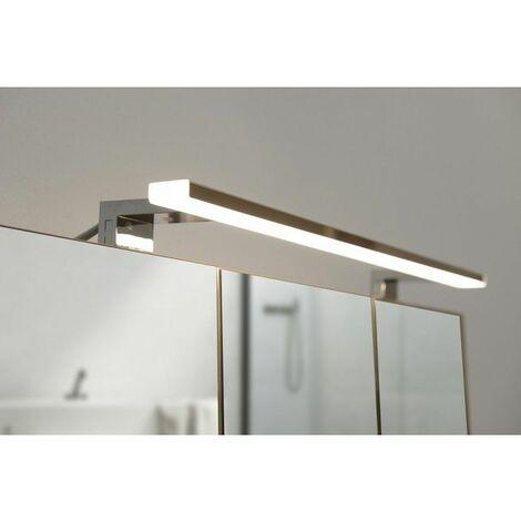 Spot de salle de bains avec clairage led chrome 5 2 cm x 80 cm hxl - Eclairage spot salle de bain ...
