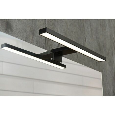 Spot de salle de bains avec éclairage LED - Modèle Spot Noir ...