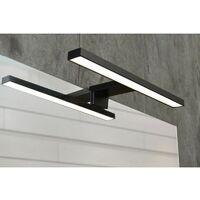 Spot de salle de bains avec éclairage LED - Modèle Spot Noir - 4 cm ...