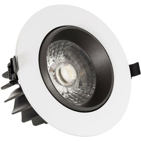 Spot Downlight LED 18W COB Orientable Rond Gris Design Coupe Ø 120mm Blanc Froid 6000K - Blanc Froid 6000K