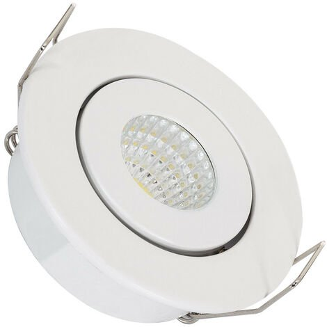 Spot Downlight LED COB Orientable Rond 1W Blanc
