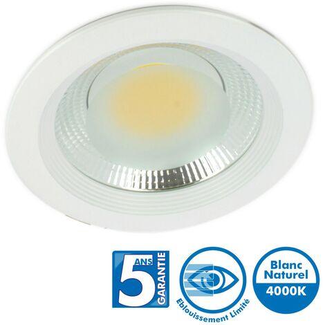 Spot Downlight Pro Fixe Cob 15W 4000k Garantie 5 Ans - 50 000 Heures