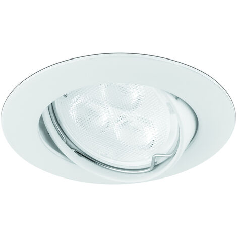 Spot encas. Gu10 230v fonte orientable alu brosse (al25)