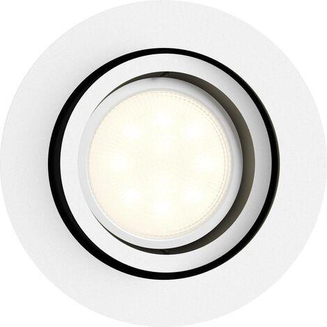 Spot encastrable 5.5 W 1x GU10 Philips Lighting Milliskin 5041131P7 blanc 1 pc(s)