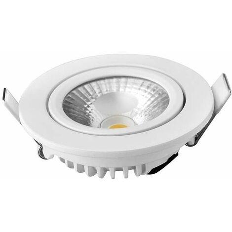 Spot Encastrable 8W LED équivalent 70W - Blanc Chaud 2700K