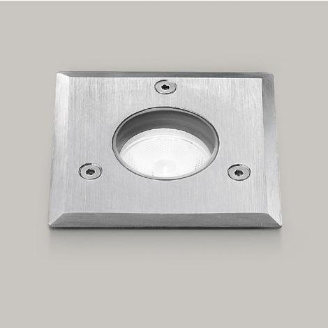 Spot encastrable aluminium aluminium gea led ges541 led ip65 / ip68 spot encastrable piéton carré extérieur 3w 183lm 4000 ° k