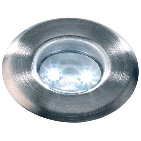 Spot encastrable ASTRUM BLANC 0.5W PLATINE LED IP68 Blanc Froid extérieur Garden lights ampoule fournie - 3029601