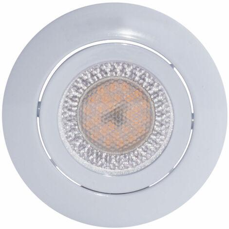 Spot encastrable au plafond LED rond lampe de salon spot blanc orientable