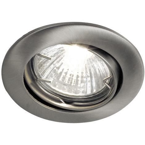 Spot encastrable au plafond orientable dans l\'ensemble, ampoules LED incluses, carton endommagé