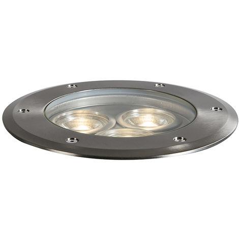 Spot encastrable au sol acier inox IP67 - Tribus Qazqa Design, Moderne Luminaire exterieur Cylindre / rond