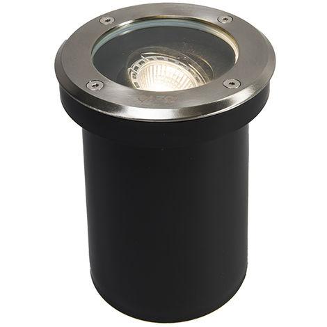 Spot encastrable au sol extérieur Moderne en acier inoxydable IP65 - Delux Qazqa Moderne Luminaire exterieur IP65 Rond