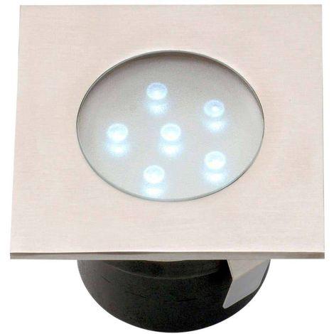 Spot encastrable BREVA 1W PLATINE LED IP68 Blanc Très Froid éxterieur Garden lights ampoule fournie - GL4016601