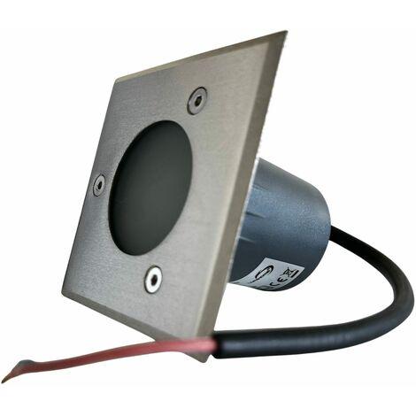 Spot encastrable carré 230V à ampoule interchangeable GU10