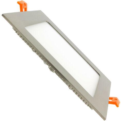 Spot Encastrable Dalle LED Carrée Extra-Plate LED 12W Argenté Downlight Panel