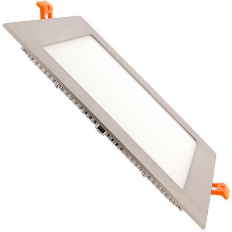 Spot Encastrable Dalle LED Carrée Extra-Plate LED 15W Argentée Downlight Panel