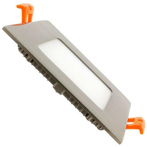 Spot Encastrable Dalle LED Carrée Extra-Plate LED 6W Argentée Downlight Panel