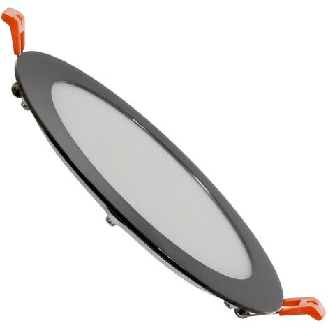 Spot Encastrable Dalle LED Ronde Extra-Plate 12W Black Downlight Panel