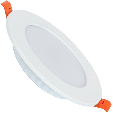 Spot Encastrable Dalle LED Ronde Slim 6W Downlight Panel Blanc Neutre 4000K - 4500K