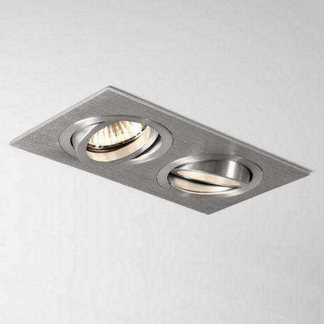 Argent Spot Taro Aluminium Double Encastrable Orientable Iii 76bgYyf