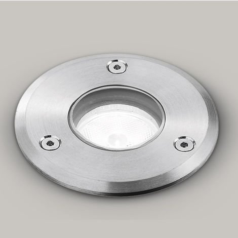 Spot encastrable en acier aluminium gea led ges542 led ip65 / ip68 spot encastrable maçonnerie extérieure ronde 5w 395lm 4000 °
