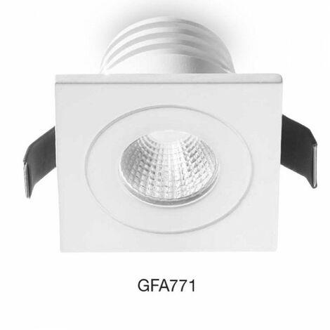 Spot encastrable en aluminium gea led gfa771 spot led carré faux plafond intérieur moderne 5w 3000 ° k 4000 ° k ip20, nuances claires 3000 ° k (lumière chaude)