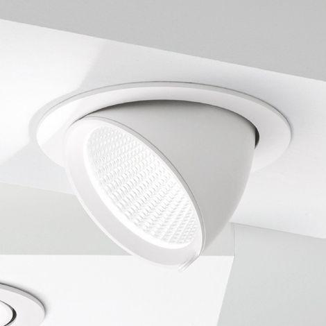 Spot encastrable en aluminium gea led gfa911c 40w led 3000 ° k spot orientable inclinaison réglable faux plafond