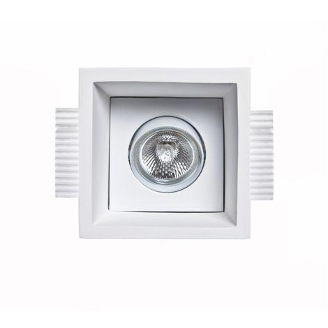 Spot encastrable en plâtre 9010 belfiore neo light bf-0021 led plafonnier blanc orientable 30 ° faux plafond maçonnerie gu10