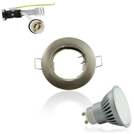 Spot Encastrable GU10 Rond Aluminium fixe 4W 4100K Angle Large 120°