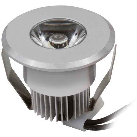 Spot encastrable HAXA Argent Rond LED intégré IP20 1W Blanc Chaud KANLUX - 8100