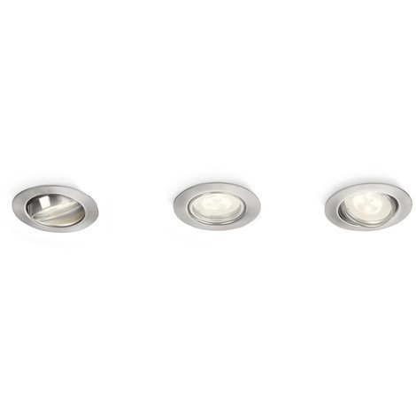 Spot encastrable LED 2W GU10 - Chrome - Philips 517887
