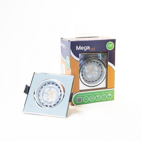 Spot encastrable LED amovible Argenté 4W - Equivalent 40W - Mega Led CL10GUSC40W