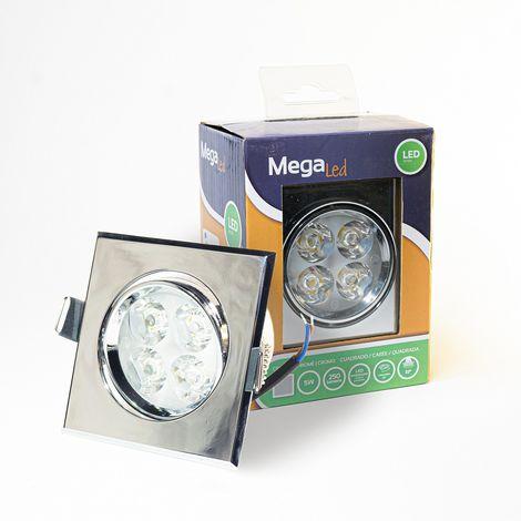 Spot encastrable LED amovible Argenté 5W - Equivalent 50W - Mega Led CLISS50W